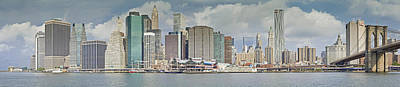 Downtown Manhattan Panorama 3 Poster by Val Black Russian Tourchin