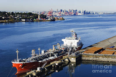 Downtown Vancouver Seen From Dockside Poster by Jeremy Woodhouse