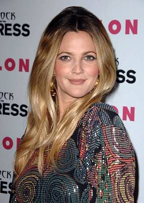 Drew Barrymore At Arrivals For Nylon + Poster by Everett