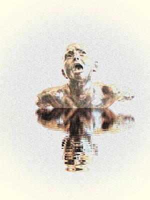 Drowning In Sorrow Poster by Al Bourassa