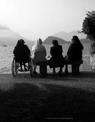 Due Chiacchiere Sul Lago Poster by Riccardo Maffioli