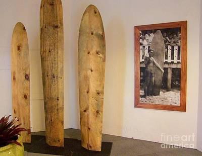 Duke Kahanamoku Surfboards Poster by Mary Deal