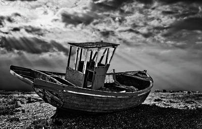 Dungeness In Mono Poster by Meirion Matthias