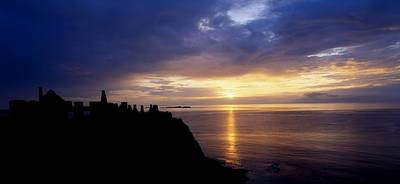 Dunluce Castle At Sunset, Co Antrim Poster by The Irish Image Collection