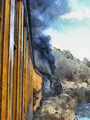 Durango Silverton Painterly 3 Poster by Ernie Echols