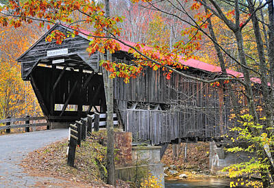 Durgin Covered Bridge - New Hampshire  Poster by Thomas Schoeller