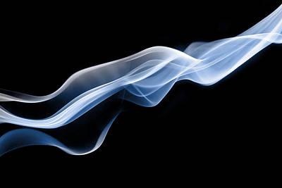 Dynamic Threads Of Blue Smoke Poster by Anthony Bradshaw