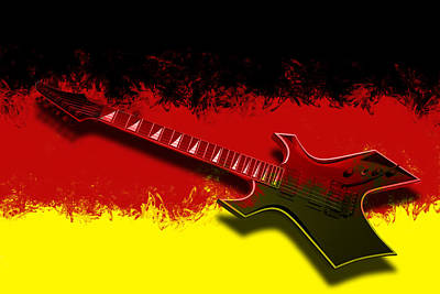 E-guitar - German Rock II Poster by Melanie Viola