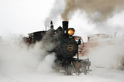 Early Morning Winter Steam Up Poster by Ken Smith