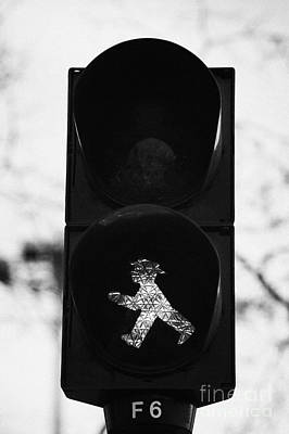 East German Ampelmannchen Go Walking Traffic Light Man Berlin Germany Poster by Joe Fox