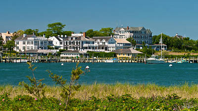 Edgartown Harbor Marthas Vineyard Massachusetts Poster by Michelle Wiarda