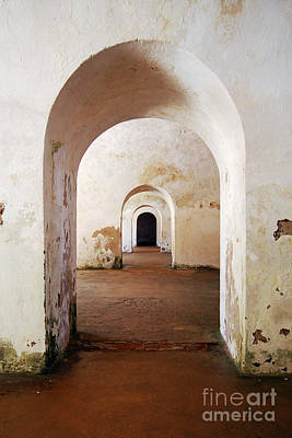 El Morro Fort Barracks Arched Doorways Vertical San Juan Puerto Rico Prints Poster by Shawn O'Brien