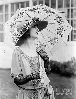 Eleannor Boardman With Parasol Poster by Padre Art