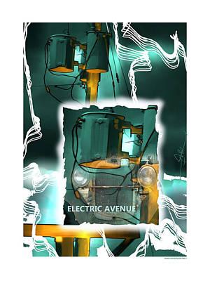 Electric Avenue Poster by Bob Salo
