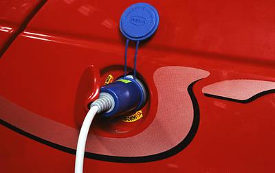 Electric Car Poster by Volker Steger