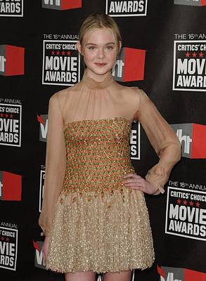 Elle Fanning Wearing Valentino Couture Poster by Everett