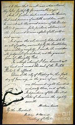 Emancipation Proc., P. 4 Poster by Granger