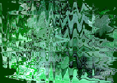 Emerald City - Abstract Art Poster by Carol Groenen