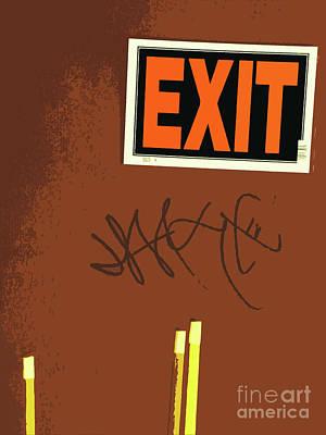 Emergency Exit Poster by Joe Jake Pratt