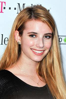 Emma Roberts At Arrivals For T-mobile Poster by Everett