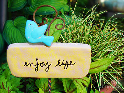 Enjoy Life Poster by Laura Brightwood