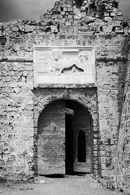 Entrance To Othello Tower In Old City Walls Looking Out To The Harbour Famagusta  Poster by Joe Fox