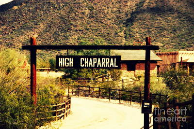 Entrance To The High Chaparral Ranch Poster by Susanne Van Hulst