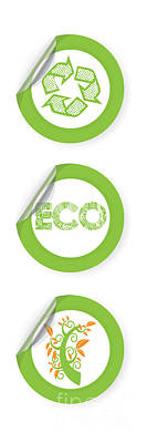 Environmental Sticker Design Poster by HD Connelly