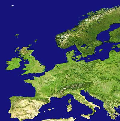 Europe, Satellite Image Poster by Nasa