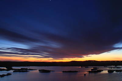 Evening Sky Over The Marsh Parker River National Wildlife Refuge Poster by John Burk