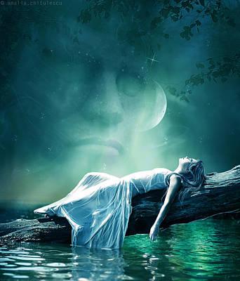 Evening Star Poster by Amalia Iuliana Chitulescu