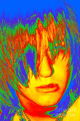 Face Of Teenage Addiction Multicolor Poster by Susan Stevenson