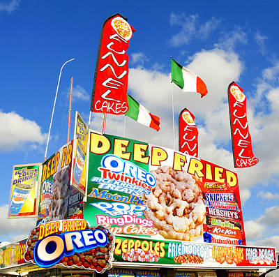 Fair Food Poster by David Lee Thompson