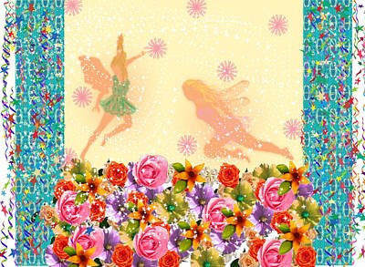 Fairy Play Poster by Rosalie Scanlon