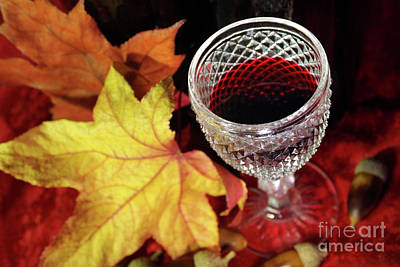 Fall Red Wine Poster by Carlos Caetano