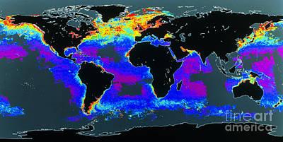 False-col Satellite Image Of Worlds Poster by Dr. Gene Feldman, NASA Goddard Space Flight Center