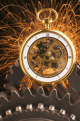 Fancy Pocketwatch On Gears Poster by Garry Gay