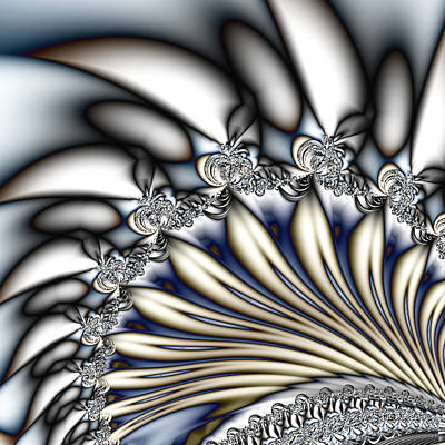 Fanfare - An Abstract Fractal Design Poster by Gina Lee Manley