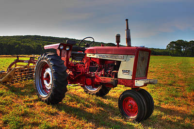 Farmall Tractor In The Sunlight Poster by Andrew Pacheco