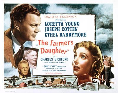 Farmers Daughter, Joseph Cotton Poster by Everett