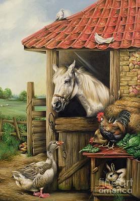 Farmyard Friends Poster by Carl Donner