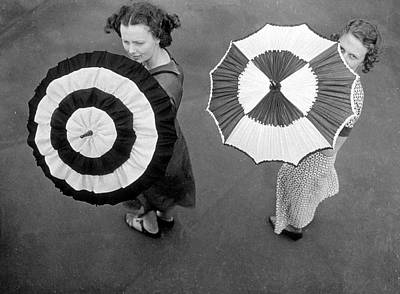 Fashion Parasols Poster by Topical Press Agency