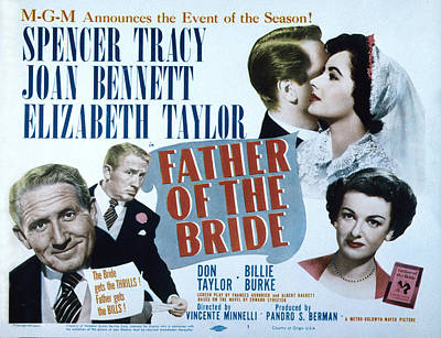 Father Of The Bride, Spencer Tracy Poster by Everett
