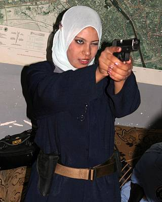 Female Iraqi Police Officers Practice Poster by Everett
