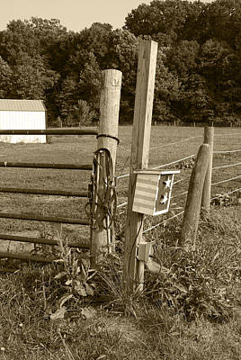 Fence Post Poster by Jennifer Ancker