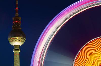 Ferris Wheel Berlin Poster by Marcus Klepper