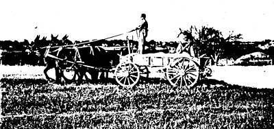 Fertilizing The Field Litho Poster by Padre Art