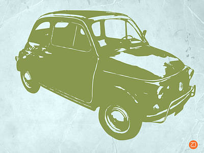 Fiat 500 Poster by Naxart Studio