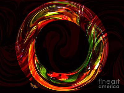 Fiery Circle Poster by Cheryl Young