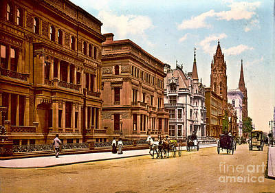 Fifth Avenue And 51st Street New York City 1900 Poster by Padre Art